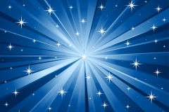 Description: Abstract blue vector background with stars.
