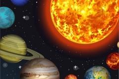 Vector illustration Solar system