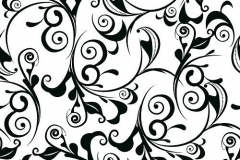 Classic decorative seamless vector black-and-white texture