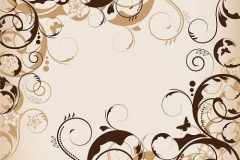 an abstract brown flower design for background