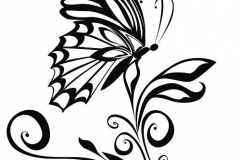 Decorative vector ornament. Vector floral ornament with butterfly, element for design